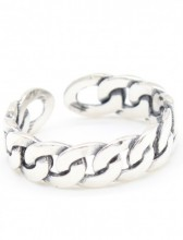 F-B20.2 SR103-100 Ring 925 Sterling Silver Chain
