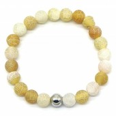 B-A4.5 B2121-001 Cracked Agate Bracelet Yellow