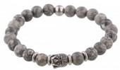 A-A4.4  S. Steel Bracelet with Semi Precious Stones Grey
