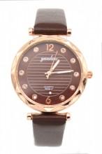 B-F20.4 W203-007 Quartz Watch with Pu Strap 30mm Brown