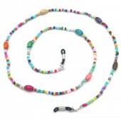 D-A6.3 GL586  Sunglass Chain Beads Multi Color