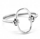 G-E8.4 SR104-137 925S Silver Ring Adjustable Hoop