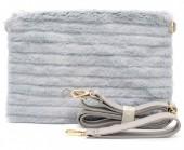 T-N7.2  BAG190-006 Soft Fake Fur Clutch-Bag Grey 30x17x4 cm