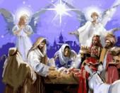 Y-C2.2  MS7510 Paint By Number Set Nativity Scene 50x40cm