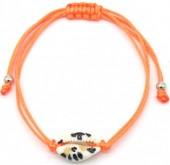 D-C7.1  B2001-057E Bracelet with Leopard Shell Orange