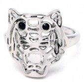 G-E5.1 R532-010S Adjustable Ring Tiger Silver