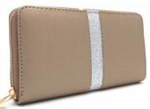 Q-D7.2 WA420-010 PU Wallet with Glitters 19x10cm