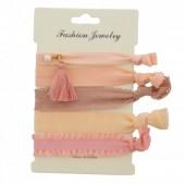 D-F19.2  Hairtie 5pcs Glitter - Pink tones