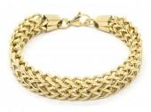 A-E9.1  B2063-013S S. Steel Bracelet Chain 1.2x19.5cm Gold