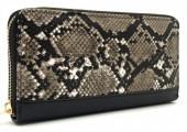Q-J6.2 WA420-006 PU Wallet Snake 19x10cm Brown