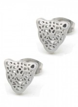 A-E2.1 E1842-010 Stainless Steel Studs Leopard Silver