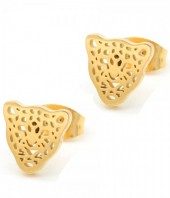 A-C16.3  E1842-010 Stainless Steel Studs Leopard Gold