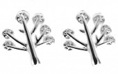 A-E4.4 SE104-124 Earrings 925S Silver 8mm