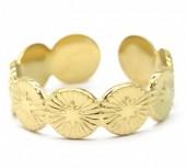 D-D21.2 R2033-008G S. Steel Ring Adjustable Gold