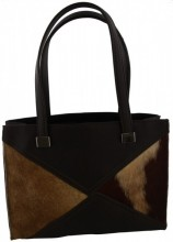 T-C1.2 Leather Bag 32x24x11cm Dark Brown with Mixed Color Cowhide