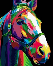 Y-A1.5 MS7501 Paint By Number Set Horse 50x40cm