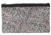 R-A8.1 BAG1824-005 Make Up Bag with Leopard Print and Tassel 22x13.5cm Pink