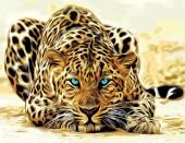 Y-D6.3 MS7509 Paint By Number Set Leopard 50x40cm