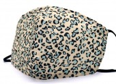 G-D2.1 FM042-SKA508 - Cotton Fashion Mask with Room for Filter Washable - Leopard Blue