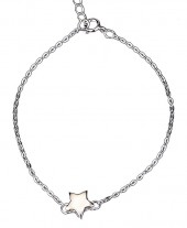 B103-029 925 Sterling Silver Bracelet Star