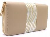 R-H3.2 WA529-001C PU Wallet Shiny Zebra 19x10cm Brown
