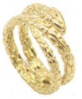 A-B4.1  R519-007G Stainless Steel Ring Snake Gold #19