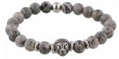 A-B20.5 S. Steel Bracelet with Semi Precious Stones Grey