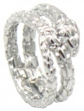 A-D6.4 R519-007S Stainless Steel Ring Snake #16
