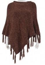 Y-F5.2 SCARF008-004A Scarf with Fringes Brown
