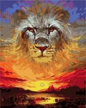 Y-C3.1 MS7651 Paint By Number Set Lion-Sunset50x40cm