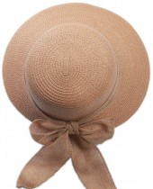 R-G7.1 HAT504-009A Hat with Ribbon Brown