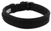 G-A7.1  MTDC-001 Leather Dog Collar Braided Black XS 44x2cm