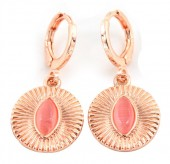 B-D5.4  E426-002 Earrings 10mm with 15mm Charm Rose Gold
