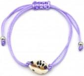 D-B4.1 B2001-057G Bracelet with Leopard Shell Purple