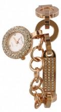E-E11.2 Quartz Watch with Crystals Rose Gold