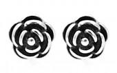 E-B20.5 SE104-280 925S Silver Earrings with 5mm Flower