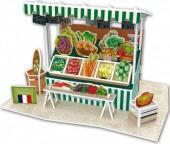 G-B11.1 W3176H 3D Puzzle Vegetable Stall France - 39pcs