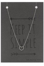 E-D16.2 SN104-011 Necklace 925 Sterling Silver with Heart 10mm