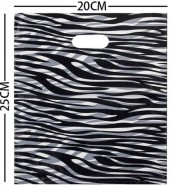 X-G6.1 Plastic Bags Zebra Print 20x25cm 100pcs