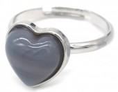 E-E19.1 R1934-009 Adjustable Ring Labrodorite Silver