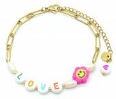 F-A3.1  B2126-023G S. Steel Bracelet LOVE Gold