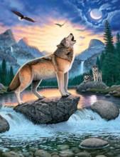 R-I6.2 X208 Diamond Painting Set Wolf 40x30cm