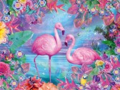 Y-E1.4 X301 Diamond Painting Set Flamingos 40x30cm