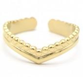 D-D21.3 R2033-009G S. Steel Ring Adjustable Gold