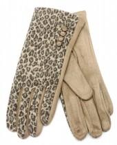 R-L3.2 GLOVE403-080A Gloves Animal Print Brown