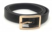 S-F4.3 BELT418-003C PU Belt Snake Black M