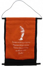 S-H2.3 Cotton Banner Budha Quote 48x33cm