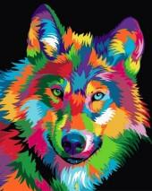 Y-D5.4 MS7503 Paint By Number Set Wolf 50x40cm