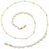C-B23.2 GL548 Sunglass Chain Pearls Gold