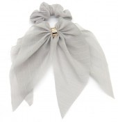 S-A5.5 H305-135A Scrunchie with Bow Grey